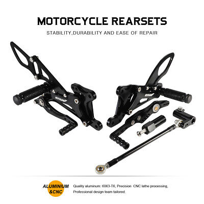 CNC REARSET REAR SETS FOOTPEGS PEDAL SETS FOR <em>YAMAHA</em> YZF R1 2007 2008
