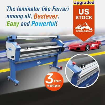 Qomolangma 63in Full-auto Wide Format Cold Laminator With Heat Assisted