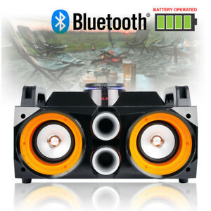 Portable Stereo Megasound Party Speaker System with Bluetooth, USB & Lights DJ