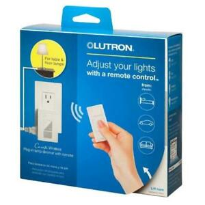Caseta Wireless Plug-In Lamp Dimmer with Pico Remote Control Kit in White