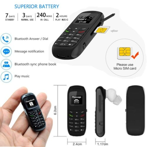 New BM70 Mini Small GSM Mobile Phone Bluetooth Dialer Headset Cellphone Earphone Cell Phone & Smartphone Parts