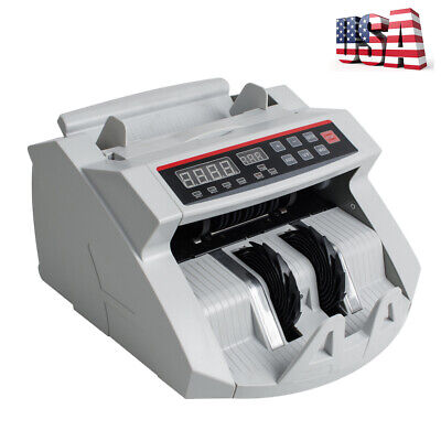 Best Led Money Bill Counter Counting Machine Counterfeit Detector Uv Mg Cash
