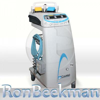 Conmed System 5000 With Smoke Evac Electrosurgical Unit Mono Bipolar Esu Bovie