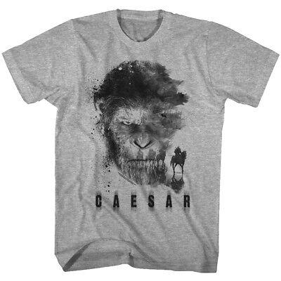 Planet of The Apes Caesar Watercolor Men's T Shirt Horses Monkey Face POTA Chimp
