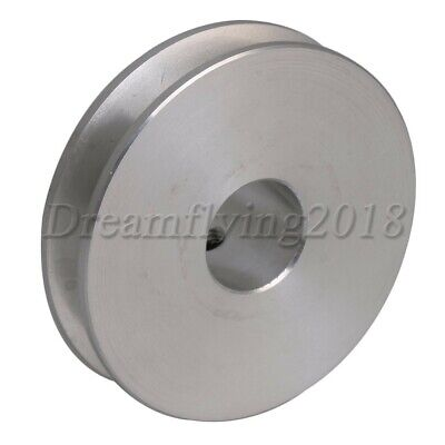 Aluminum 12mm Bore V-shape Groove Drive Belt Step Pulley For 3-5mm Round Belt