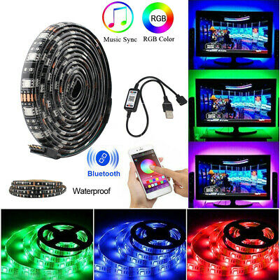 5V USB Power LED Strip Light 5050 RGB TV Backlight Bluetooth APP Sync with Music