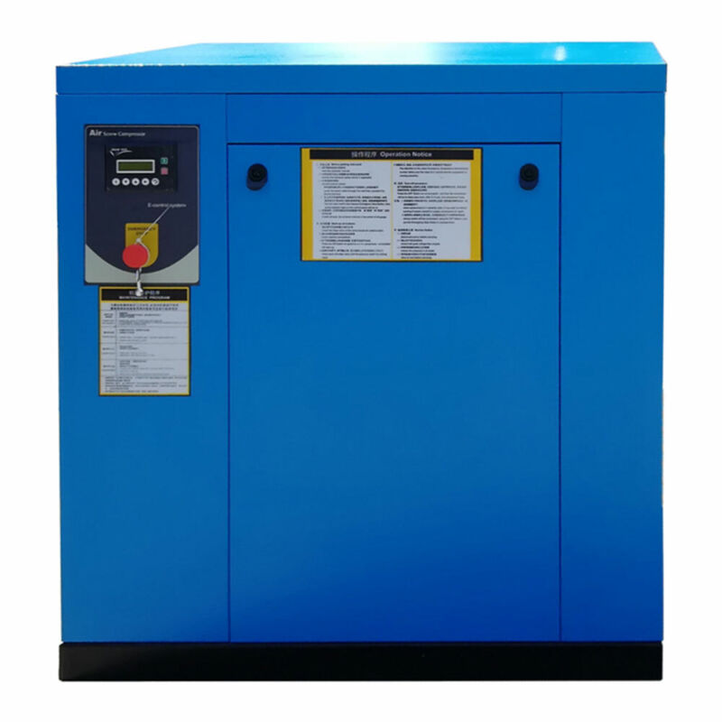 Industrial Screw Air Compressor 3Phase 230V 60Hz 7.5kw/10HP 39cfm 8bar / 125psi