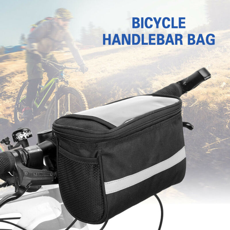 Handlebar Basket Bag Bike Reflective Front Pannier Tube Wate