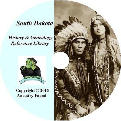 52 old books SOUTH DAKOTA -  History & Genealogy - SD Families County  DVD