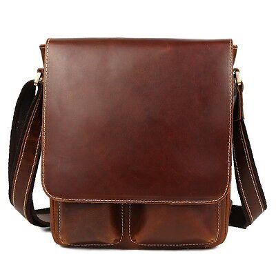 Leder Tasche Schulranzen (Luxus Herren Echtes Leder Schultertasche Schulranzen Beiläufig iPad Taschen)