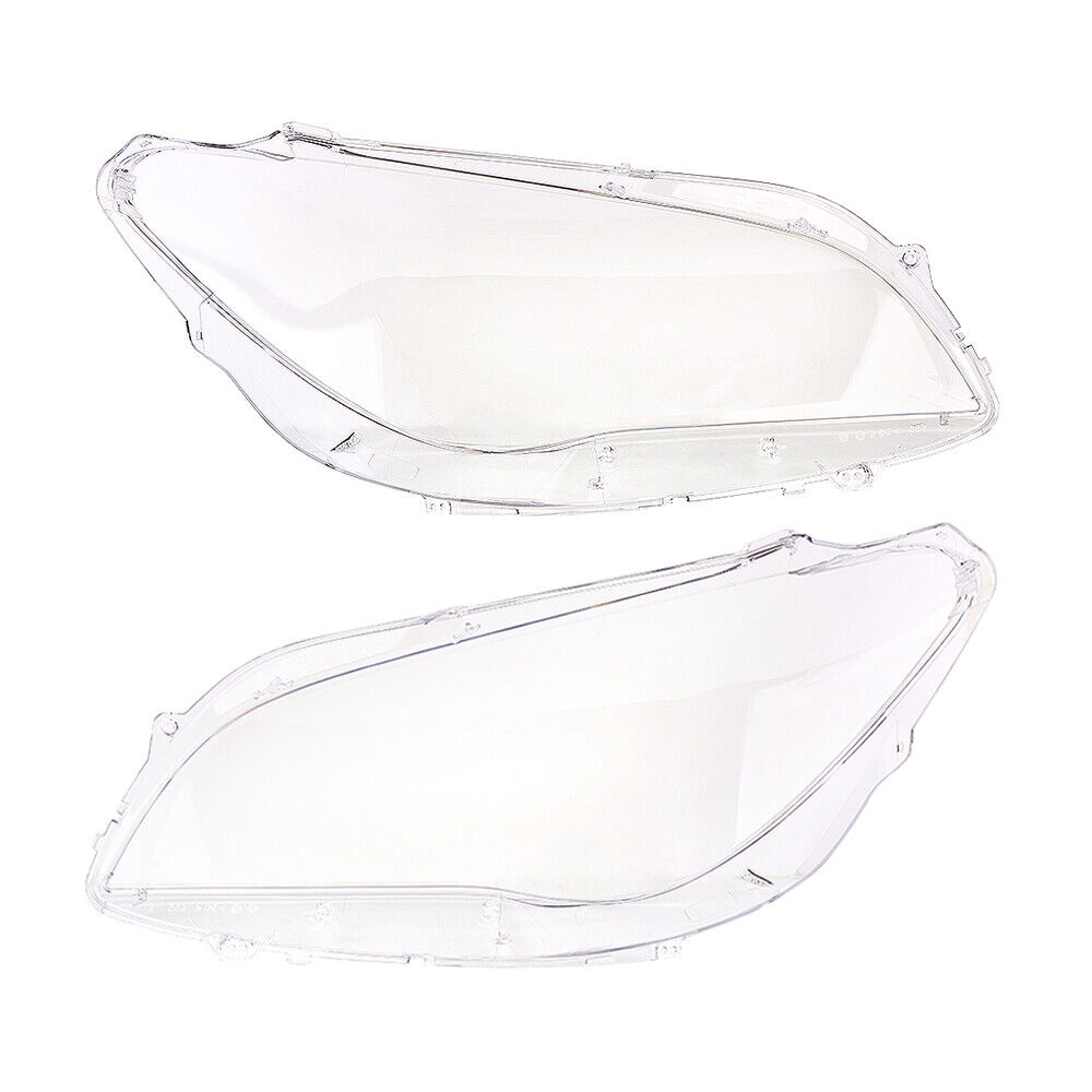 Pair Headlight Lamp Shade Lens Cover For BMW F01 F02 740i