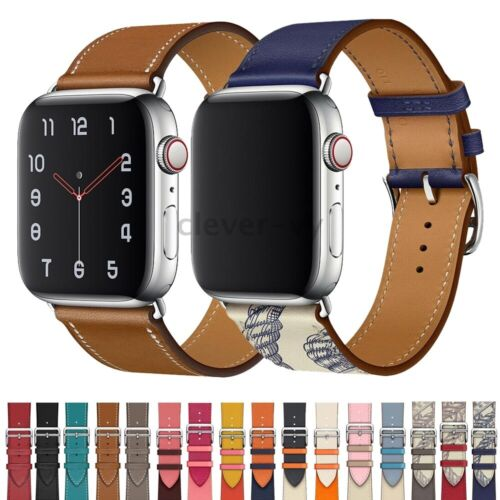 For Apple Watch Series 5 4 3 2 1 Leather Wrist Band iWatch 3