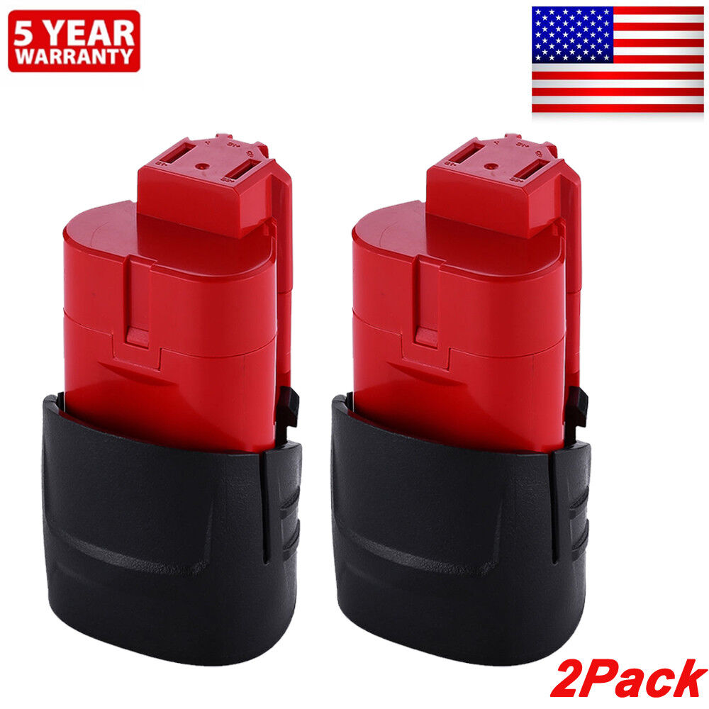 2xFor Milwaukee 48-11-2420 M12 LITHIUM Compact Battery 48-11-2402 48-11-2401 NEW 2