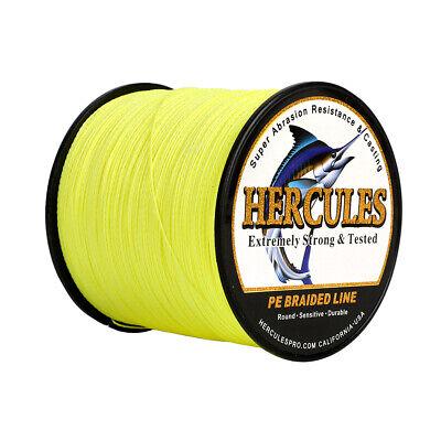 Hercules 1000M Fluoreszierendes Gelb PE Geflochtene Angelschnur 4 8 Fach Schnüre