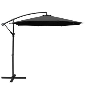 Instahut 3M Cantilevered Outdoor Umbrella - Black