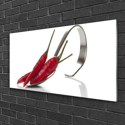 Imagen en vidrio Impresión Cuadro de 100x50 Cuchara chile Cocina