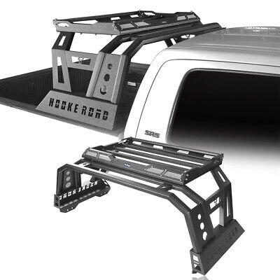 Steel Roll Bar Bed Cargo Rack Basket Roll-over Protect For Toyota Tundra 14-20