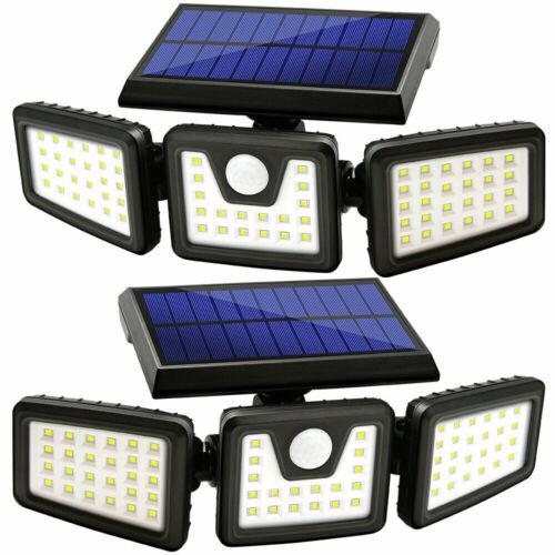2 Pack Solar Lights Motion Sensor, Security LED Waterproof Adjustable head