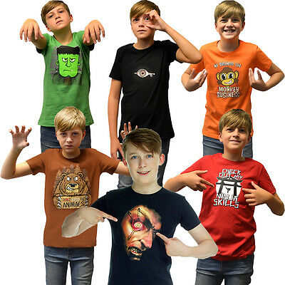Digital Dudz Boys Girls T Shirt Kids Top with Moving Images Halloween Christmas (Digital Dudz Christmas)
