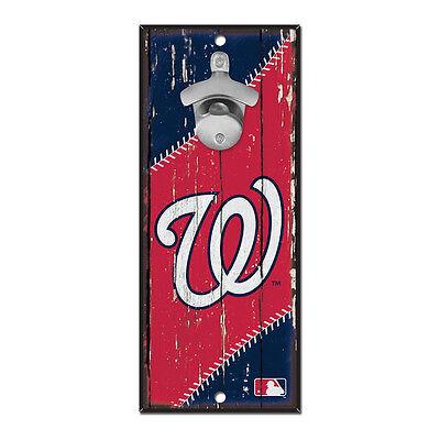 (Washington Nationals Hardboard Wood Bottle Opener Sign 5x11)