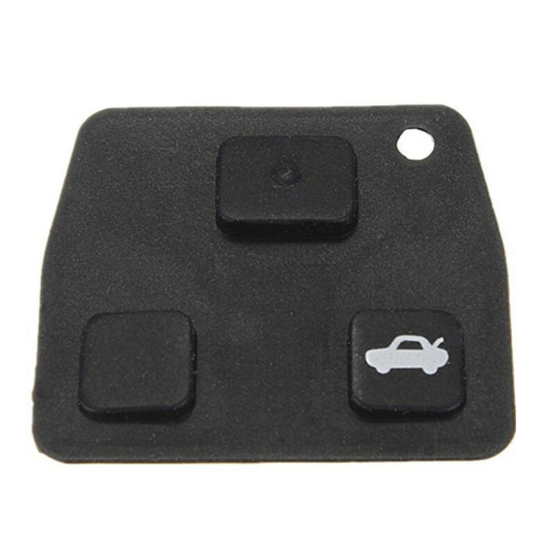 Black Pro Replacement 2 or 3 Button Car Remote Key Pad Rubber For Toyota Avensis