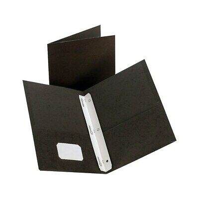 Staples 2-pocket Folder With Fasteners Black 905810