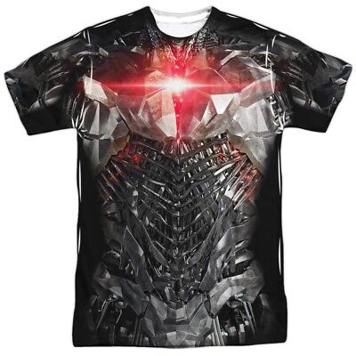 DC Justice League Movie Cyborg Uniform Costume Outfit Allover FRONT T-shirt top (Cyborg Costume Dc)