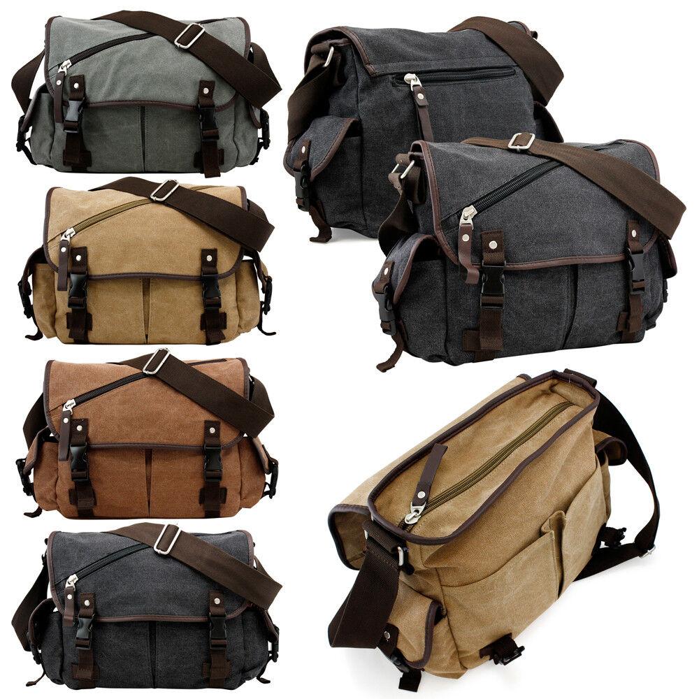 Messenger Bag School Shoulder Bag Men's Vintage Crossbody Sa