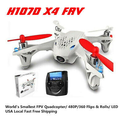 For Hubsan X4 H107D+ FPV X4 RTF Quadcopter  720P Headless Altitude RC Drone New
