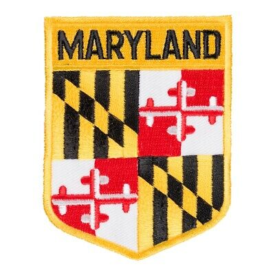 Maryland State Flag Shield Patch, United States of America Patches