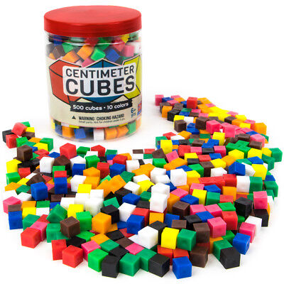 Set of 500 Centimeter Cubes with Storage Container - Counting, Sorting, Learning