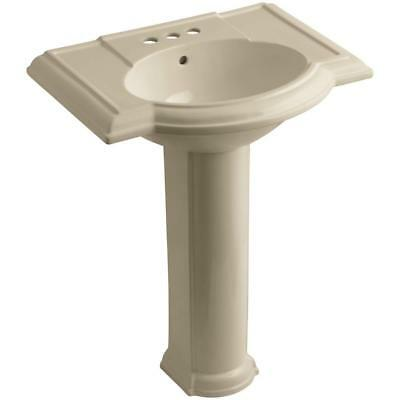 Kohler Devonshire K-2295-4-33 Mexican Sand Bathroom Sink with 4