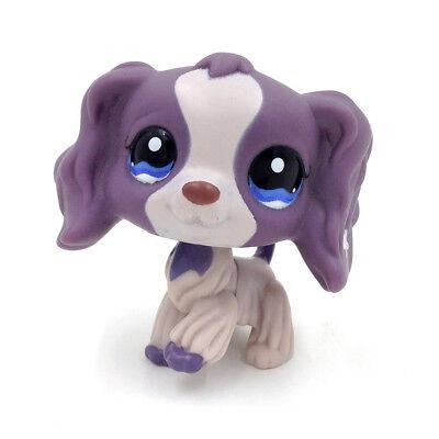 Littlest Pet Shop LPS Figure Gray Purple Cocker Spaniel Dog Puppy 1209 Toys