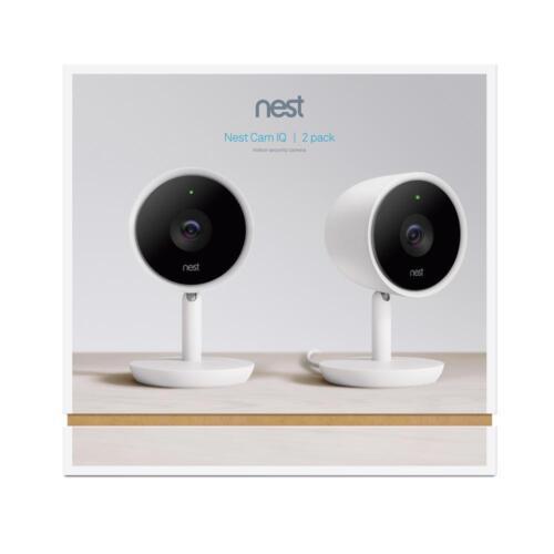 Nest Nest Cam IQ Indoor Security Camera (2-Pack) White NC3200US