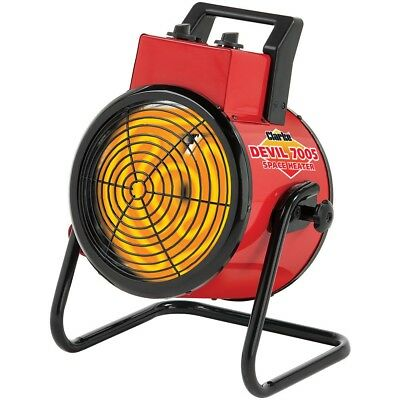 Clarke Diablo 7005 5kW Industrial Ventilador Eléctrico Heater 6935452 Tres Fases