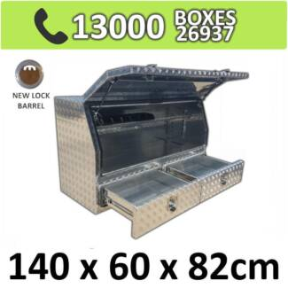 Aluminium 2 Drawer Toolbox Truck Ute Trailer Camper Caravan 1468A