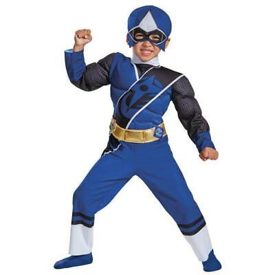 Power Rangers Kids Fasching Halloween Karneval Kostüm Jungen Blau Rot 98- - Rotes Power Rangers Kostüm