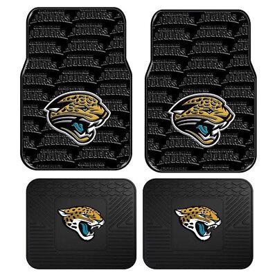 New 4pc Set NFL Jacksonville Jaguars Car Truck Rubber Vinyl Floor Mats Jacksonville Jaguars Nfl Car Mats