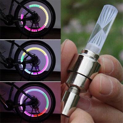 Colour Bike Bicycle Wheel Tire Valve Stem Cap LED Light Lamp Tire Decoration - Bike Decorations