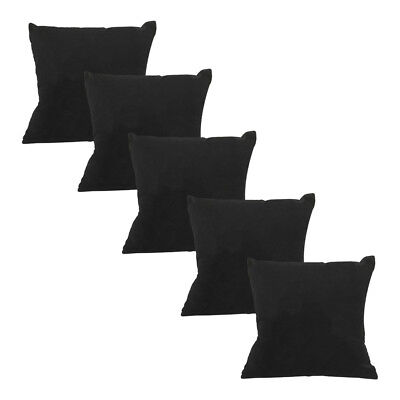Display Pillow (5Pc  4x4 Black Velvet Pillow Jewelry Bracelet Watch Display Showcase Collector )