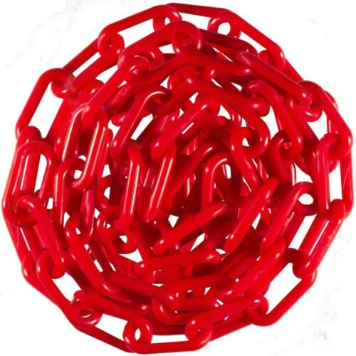 """Plastic Chain 8mm 2 """" X 50 Ft - ( Red ) for Events, DIY, or Decorative"""