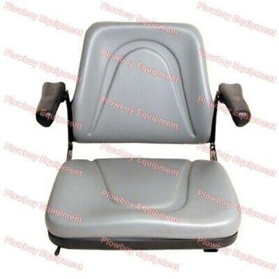 Gray Backhoe Dozer Skid Loader Tractor Seat Slide Tracks White Mm Massey Allis