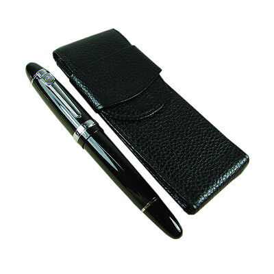 Jinhao 159 Fountain Pen With Real Leather Pen Case Bag Set Black Color