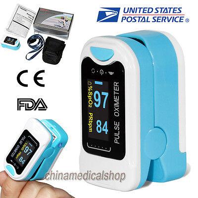 Us Finger Tip Oximetr Blood Oxygen Meter Spo2 Pulse Heart Rate Monitor Oled Fda