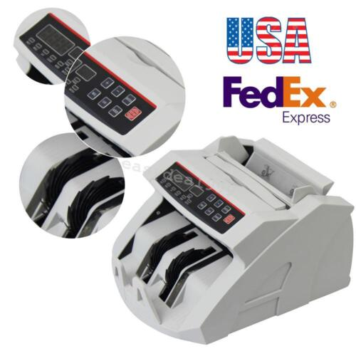 Money Bill Cash Counter Currency Counting Machine UV MG Counterfeit Detector US!
