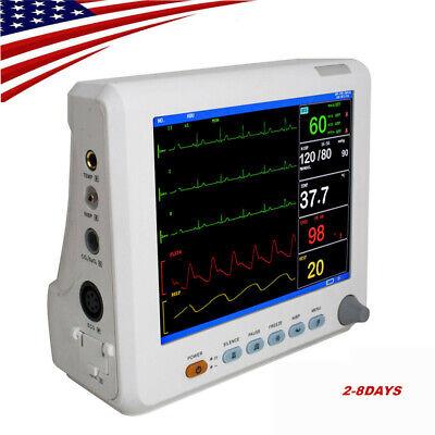 6parameter Patient Monitor Cardiac Monitor Ecg Nibp Resp Pr Spo2 Tempcuffalarm
