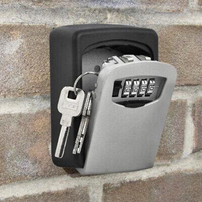 4 Digit Key Lock Box Wall Mount Security Combination Safe Storage Organizer New