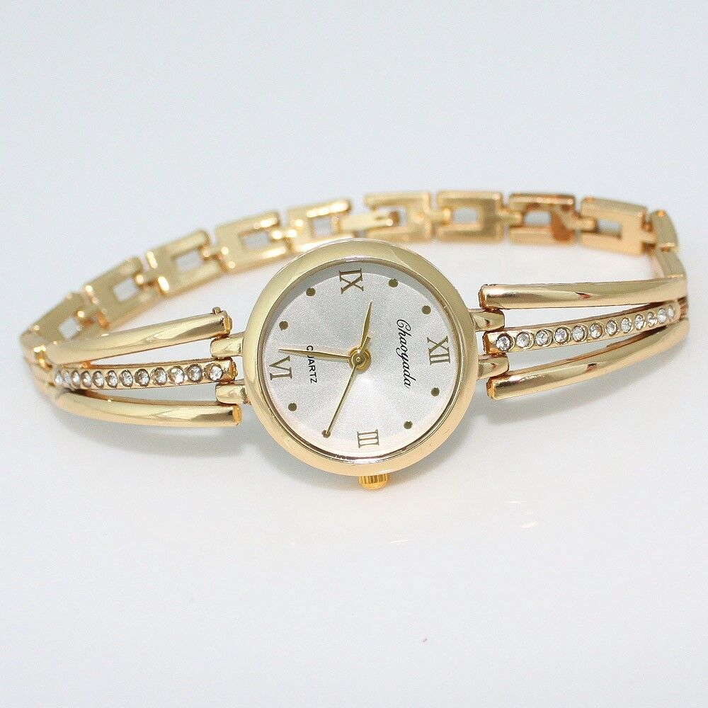 $4.50 - Luxury Fashion Women Ladies Watch Quartz Bracelet Rhinestone Wristwatch O123