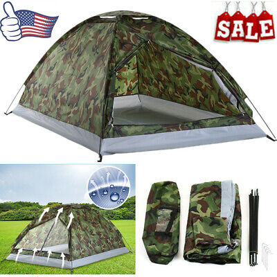 Survival TOMSHOO Camping Tent 2 Person Single Layer Outdoor Waterproof Hiking US