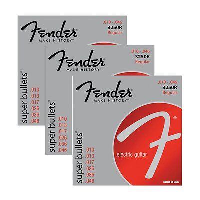 3-Pack Fender 3250R Nickel-Plated Steel Bullet-End Electric